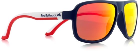 Obrázek z sluneční brýle RED BULL SPECT RB SPECT Sun glasses, LOOP-013, matt dark blue/matt white temple/smoke with red REVO, 59-15-145