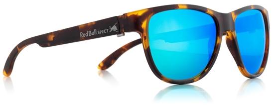 Obrázek z sluneční brýle RED BULL SPECT Sun glasses, WING3-006P, brown pattern, green with green revo POL, 53-16-145, AKCE