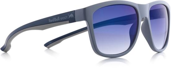 Obrázek z sluneční brýle RED BULL SPECT RB SPECT Sun glasses, BUBBLE-002P, matt dark grey/smoke with blue REVO POL, 55-17-145