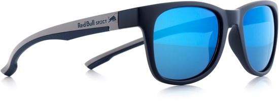 Obrázek z sluneční brýle RED BULL SPECT RB SPECT Sun glasses, INDY-003P, matt dark blue/matt grey temple/smoke with blue REVO POL, 51-20-145