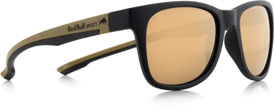 Obrázek z sluneční brýle RED BULL SPECT RB SPECT Sun glasses, INDY-005P, matt black/matt gold temple/brown with golden mirror POL, 51-20-145