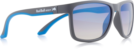 Obrázek z sluneční brýle RED BULL SPECT Sun glasses, TWIST-010P, grey, bright blue, brown gradient with light blue flash POL, 57-17-145, AKCE