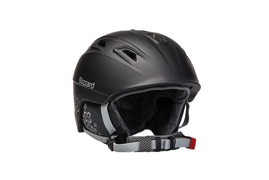 Obrázek z helma BLIZZARD Viva Demon ski helmet, black matt/silver flowers