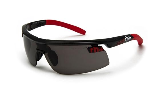 Obrázek z sluneční brýle RH+ Olympo Triple Fit, shiny black/red, see HD, grey lens, AKCE