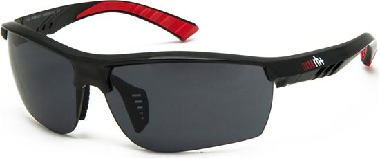 Obrázek z sluneční brýle RH+ Zero, shiny black/red, see HD, grey + clear lens, AKCE