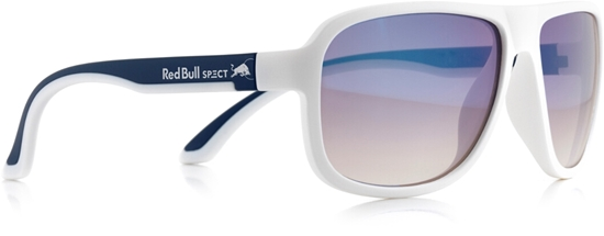 Obrázek z sluneční brýle RED BULL SPECT RB SPECT Sun glasses, LOOP-005P, matt white/matt dark blue temple/smoke with blue REVO POL, 59-15-145
