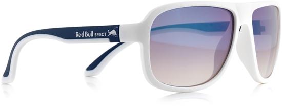 Obrázek z sluneční brýle RED BULL SPECT Sun glasses, LOOP-005P, white/blue, white, brown gradient with light blue flash POL, 59-15-145