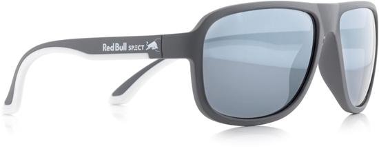 Obrázek z sluneční brýle RED BULL SPECT Sun glasses, LOOP-006P, dark grey, white, smoke with silver flash POL, 59-15-145