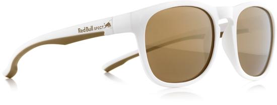 Obrázek z sluneční brýle RED BULL SPECT Sun glasses, OLLIE-005, white, brown with gold mirror, 53-20-145, AKCE