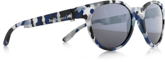Obrázek z sluneční brýle RED BULL SPECT RB SPECT Sun glasses, WING4-005, matt black-blue/smoke with silver mirror, 52-20-140, AKCE