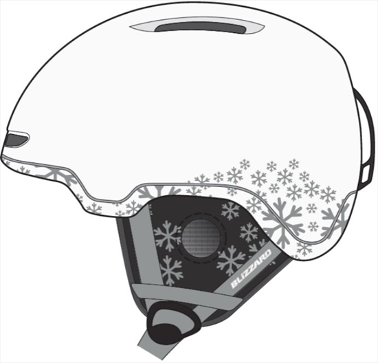 Obrázek z helma BLIZZARD Viva Viper ski helmet, white matt/silver snowflakes