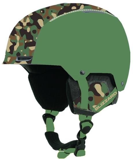 Obrázek z helma BLIZZARD Guide ski helmet, dark green matt/camouflage matt