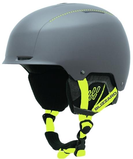 Obrázek z helma BLIZZARD Guide ski helmet, grey matt/neon yellow matt