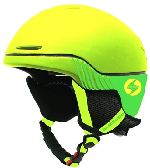 Obrázek z helma BLIZZARD Speed ski helmet junior, neon yellow matt/neon green matt