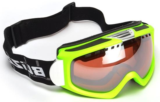 Obrázek z lyžařské brýle BLIZZARD Ski Gog. 933 MDAVZS, neon green matt, amber2, blue mirror, AKCE