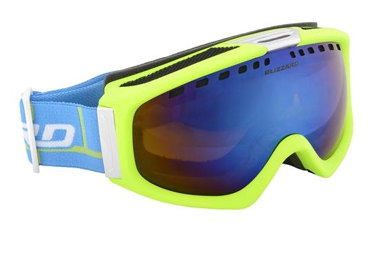 Obrázek z lyžařské brýle BLIZZARD Ski Gog. 933 MDAVZSP, neon green matt, honey2, blue mirror, polarized, AKCE