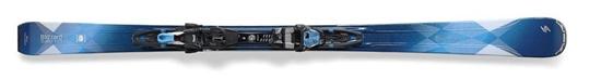 Obrázek z set sjezdové lyže BLIZZARD Quattro W 8.0 Ti + vázání TCX 12 DEMO W, blk./chr./blue, AKCE