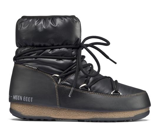 Obrázek z boty MOON BOOT WE LOW NYLON, 001 black/bronze, AKCE