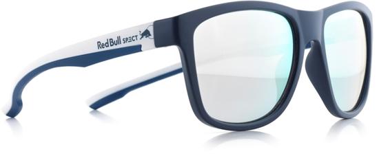 Obrázek z sluneční brýle RED BULL SPECT RB SPECT Sun glasses, BUBBLE-007P, matt dark blue/smoke with silver mirror POL, 55-17-145