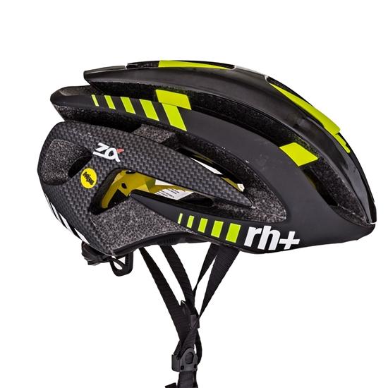 Obrázek z helma RH+ Z Alpha, shiny black/matt black/yellow fluo, AKCE