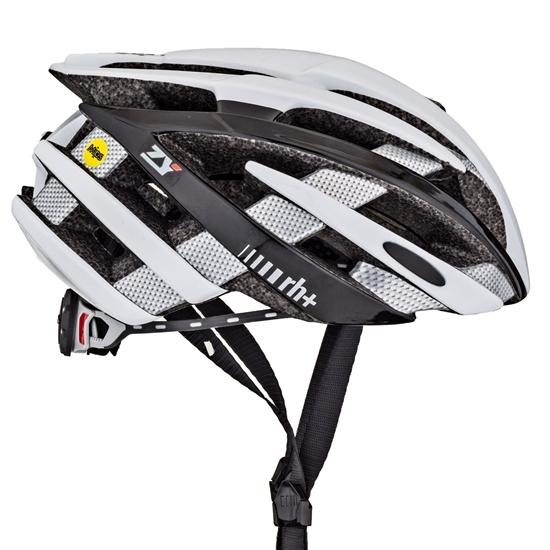 Obrázek z helma RH+ ZY MIPS, shiny white/shiny black/shiny carbon, AKCE