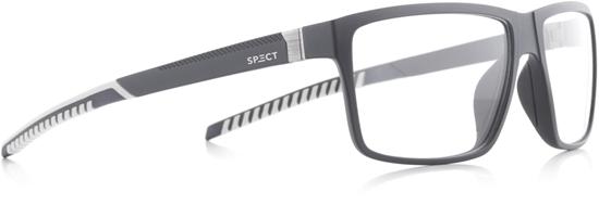 Obrázek z brýlové obruby SPECT Frame, GAP-005, matt dark grey/matt grey & matt white rubber, 58-14,5-135