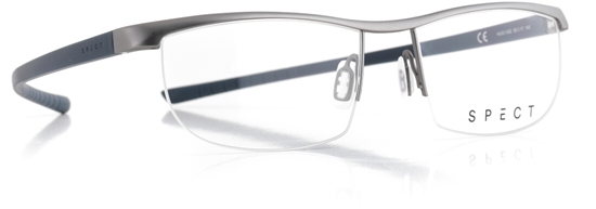 Obrázek z brýlové obruby SPECT Frame, HUG1-002, matt medium gun/matt dark grey, 55-17-145