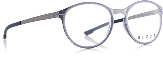 Obrázek z brýlové obruby SPECT SPECT Frame, ROLLER3-004, matt brushed light gun/matt milky indigo blue rubber/matt brushed light gun/matt dark blue rubber, 49-18-140