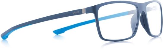 Obrázek z brýlové obruby SPECT Frame, SHIFT1-004, matt blue/matt blue/ matt light blue rubber, 57-15-140