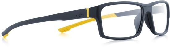 Obrázek z brýlové obruby SPECT Frame, TRACK1-008, matt dark blue/matt dark blue/matt yellow rubber, 57-15-145