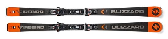 Obrázek z sjezdové lyže BLIZZARD FIREBIRD Race Ti, black/grey/orange, 18/19 + vázání TPX 12 DEMO, 18/19