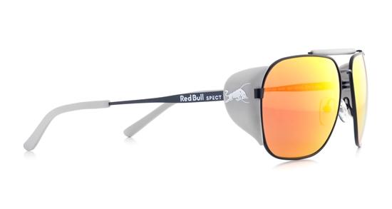 Obrázek z sluneční brýle RED BULL SPECT Sun glasses, PIKESPEAK-004P, black, brown/red, smoke with silver mirror POL, 59-14-138