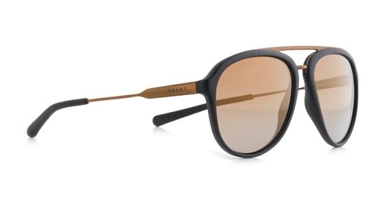 Obrázek z sluneční brýle SPECT Sun glasses, PALMBEACH-001P, black, black, brown gradient with gold flash POL, 55-16-145