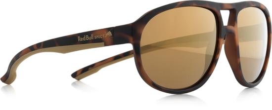 Obrázek z sluneční brýle RED BULL SPECT Sun glasses, BAIL-002P, brown pattern, brown with gold mirror POL, 59-16-145, AKCE