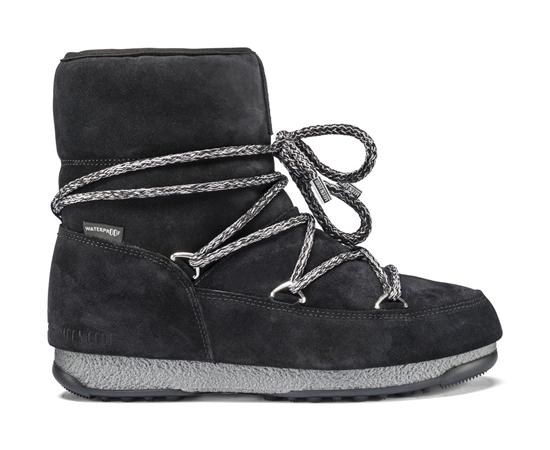Obrázek z boty MOON BOOT WE LOW SUEDE, 001 black, AKCE