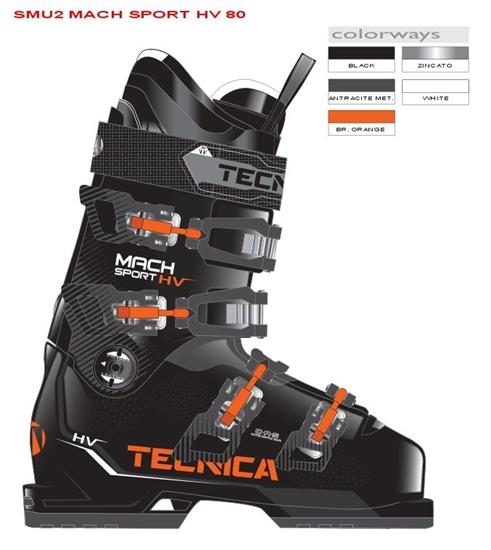 Obrázek z lyžařské boty TECNICA Mach Sport 80 HV SMU CZ, black/orange, 18/19