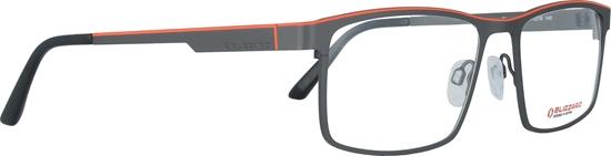 Obrázek z dioptrické brýle BLIZZARD Frame, gun/orange, 57-18/140