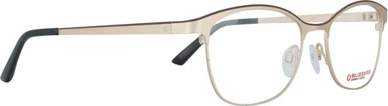 Obrázek z dioptrické brýle BLIZZARD Frame, matt gold/matt brown, 52-17/135