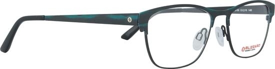 Obrázek z dioptrické brýle BLIZZARD Frame, black/turquoise, 53-16/140