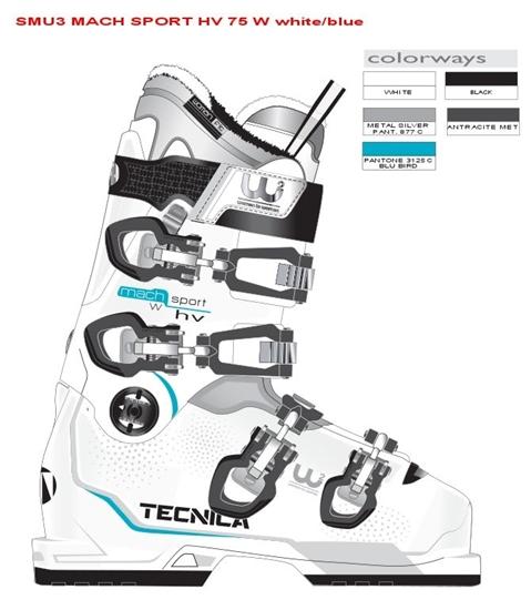Obrázek z lyžařské boty TECNICA Mach Sport 75 W HV, white/blue, 18/19