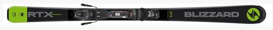 Obrázek z sjezdové lyže BLIZZARD RTX Performance, anthracite/lime, rental, 18/19 + vázání Tyrolia SLR 9.0 AC, 18/19