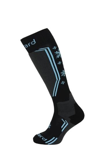 Obrázek z lyžařské ponožky BLIZZARD Viva Warm ski socks, black/grey/blue