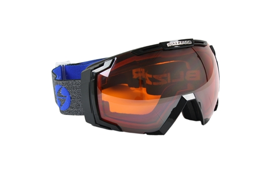 Obrázek z lyžařské brýle BLIZZARD Ski Gog. 926 MDAVZSWO black matt, orange2, silver mirror, smart view, AKCE