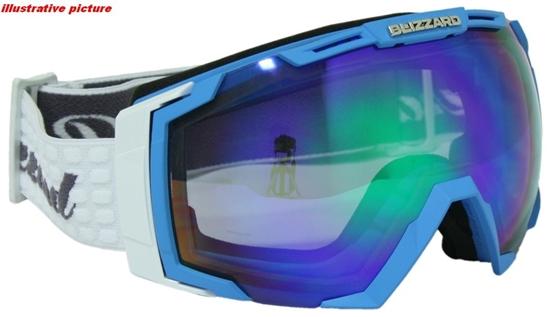 Obrázek z lyžařské brýle BLIZZARD Ski Gog. 926 MDAVZSO, neon blue matt, smoke2, blue mirror, AKCE