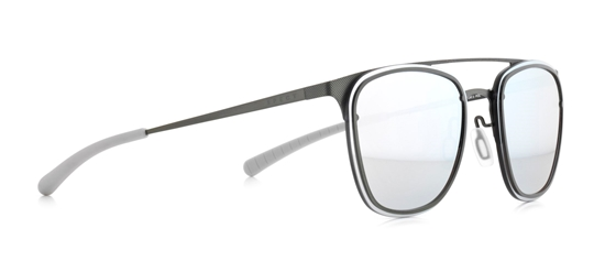 Obrázek z sluneční brýle SPECT Sun glasses, ENCINO-004P, silver, grey, smoke with blue mirror POL, 55-18-140