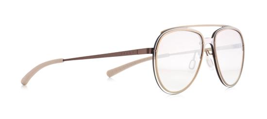 Obrázek z sluneční brýle SPECT Sun glasses, EVENS-003, beige, beige, brown gradient with silver flash, 130-0-140