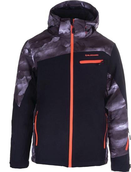 Obrázek z bunda BLIZZARD II. quality (design) Mens Jacket Scheffau, grey camo/black/orange, AKCE