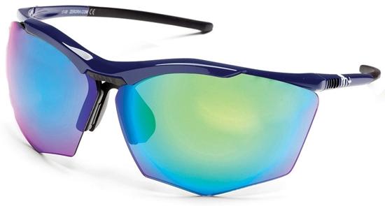 Obrázek z sluneční brýle RH+ Super Stylus, blue/black, green flash green/violet + orange lens