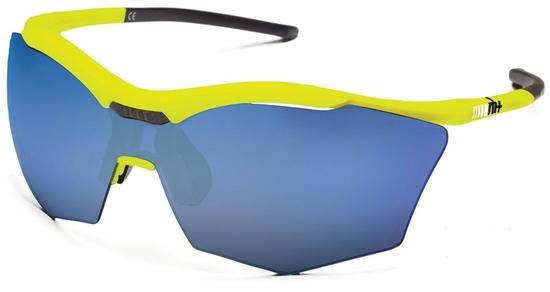 Obrázek z sluneční brýle RH+ Ultra Stylus, yellow/black, smoke flash blue + orange lens