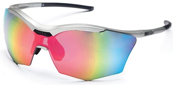 Obrázek z sluneční brýle RH+ Ultra Stylus, matt silver/black, smoke flash silver/pink + orange lens